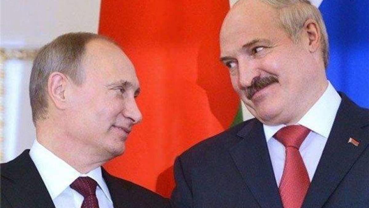 Владімір Путін та Олександр Лукашенко