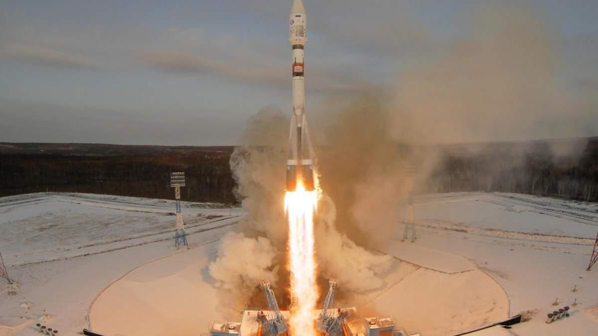 "Запуск ракети-носія ""Союз-2.1б"""