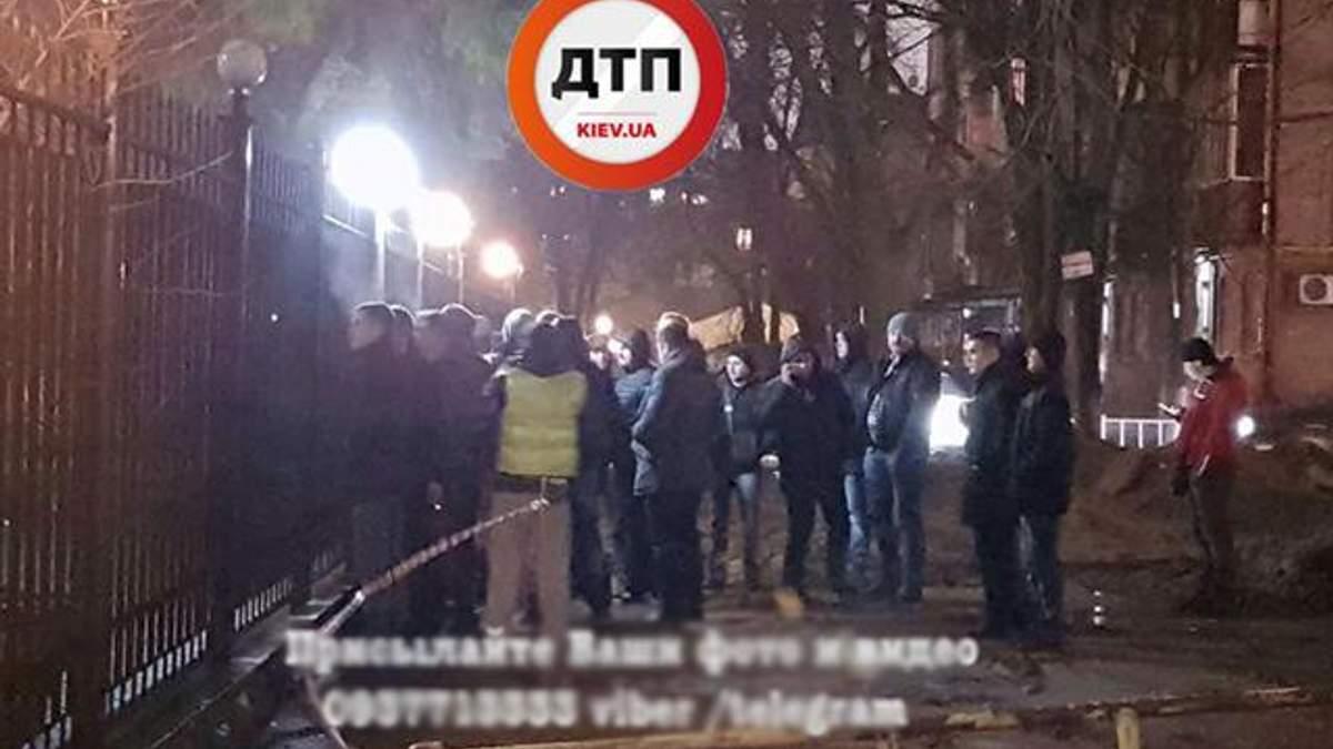 Протесты в Киеве возле Соломенского райотдела полиции
