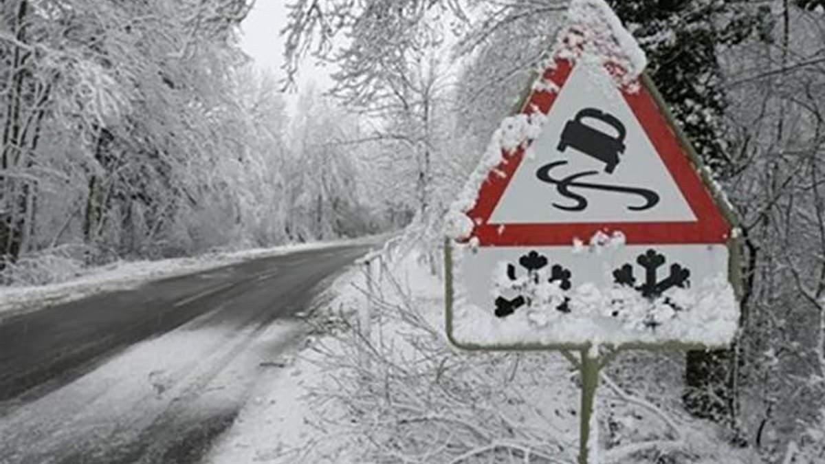 Из-за снегопадов на Львовщине ограничили движение грузовиков