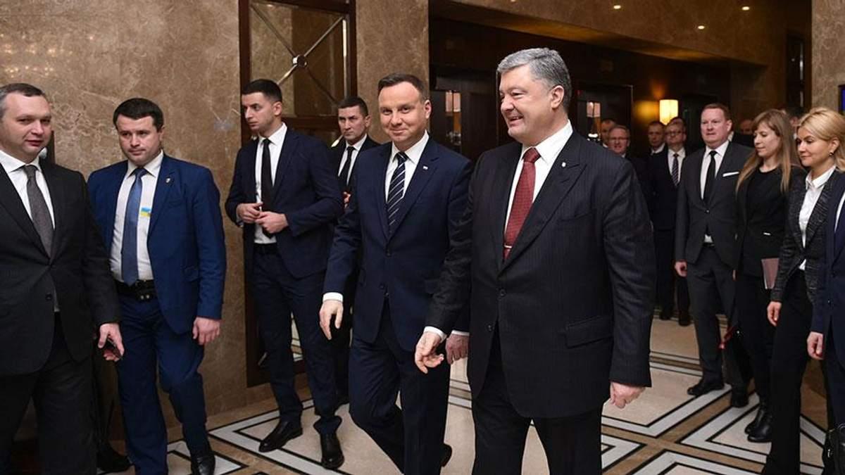 Встреча Порошенко и Дуды: мы можем изменить настоящее