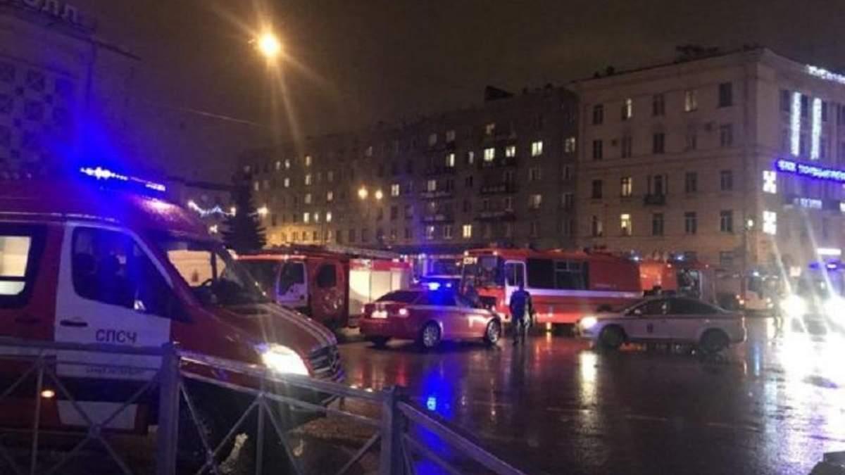 З'явилося відео закладення вибухівки у супермаркеті Петербурга
