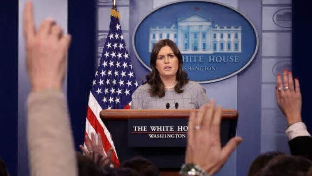 Речниця Білого дому Сара Сандерс