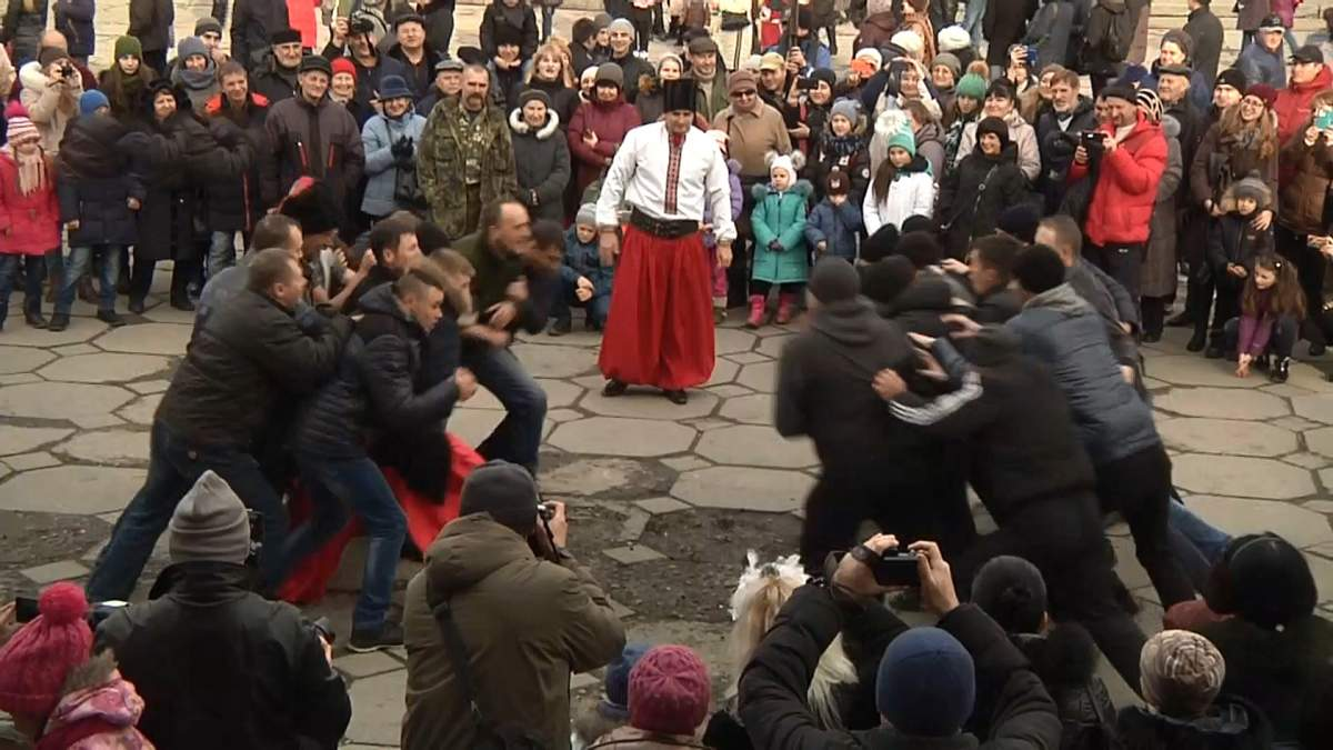 У Запоріжжі показали, як святкували Різдво козаки