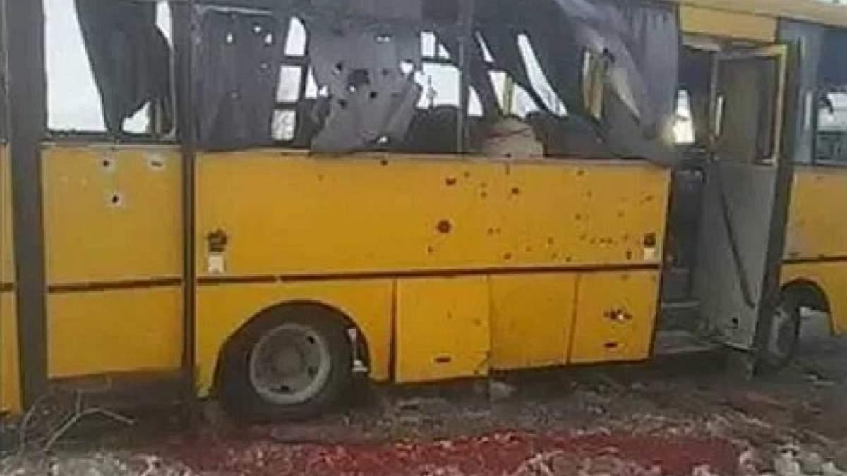 В оккупированном Докучаевске развесили листовки с извинениями за расстрел автобуса под Волновахой