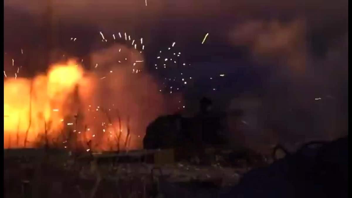 Военные ВСУ подожгли российскую технику под оккупированной Горловкой