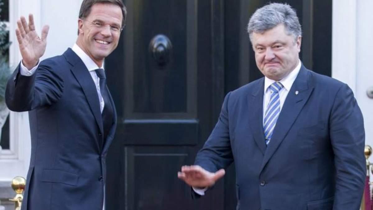 Порошенко встретился с премьер-министром Нидерландов Рютте: говорили о санкциях против России и наказании за сбитый Boeing