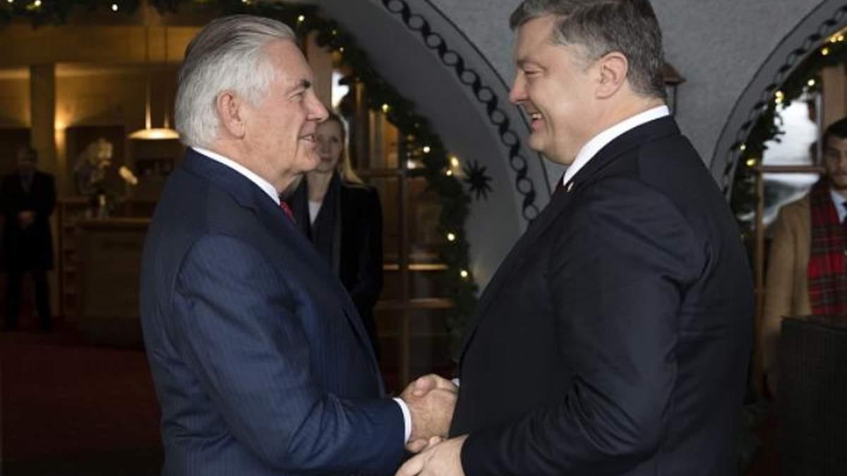 Порошенко розповів, про що домовився з главою Держдепу у Давосі