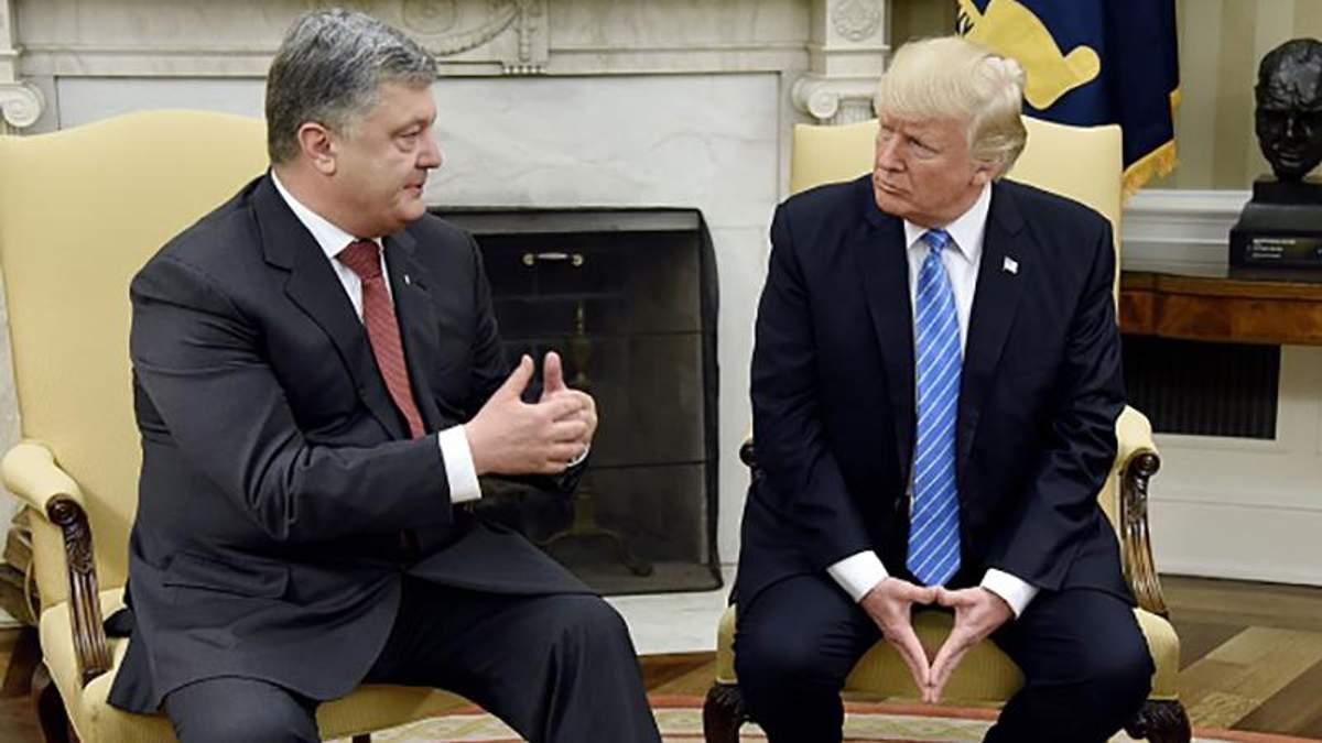 Петро Порошенко та Дональд Трамп