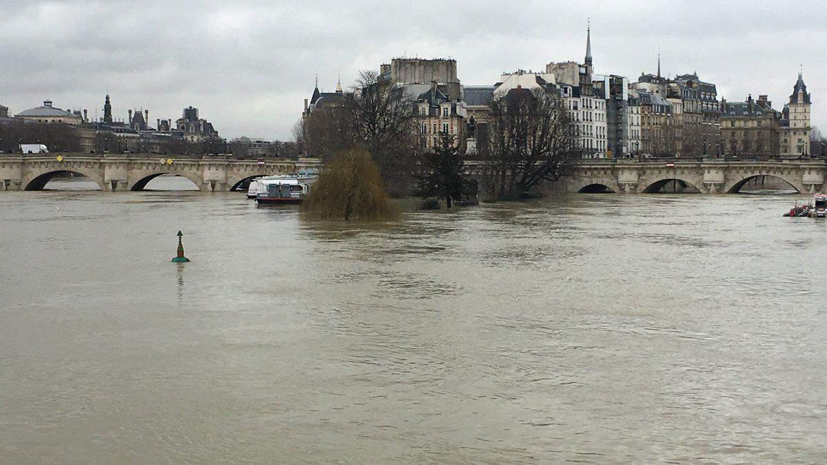 Через повінь в Парижі станції метро закриті, по місту бігають щурі: фото і відео