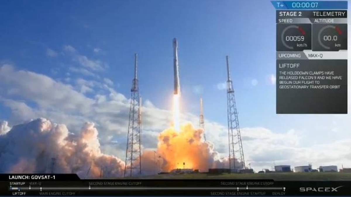SpaceX успішно запустила військовий супутник для європейської країни