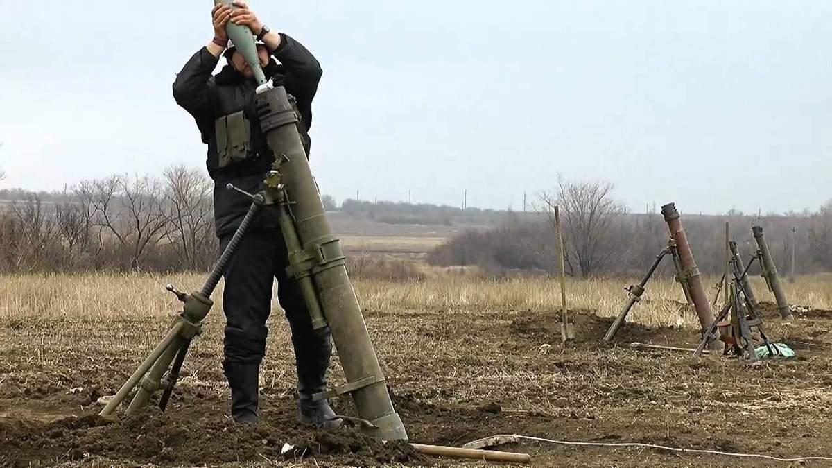 Бойовики здійснюють обстріли з 120-мм мінометів