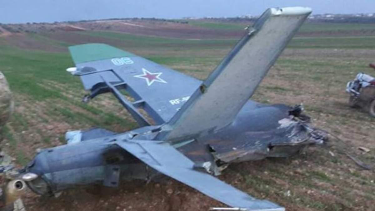 У Сирії збили російський військовий літак Су-25