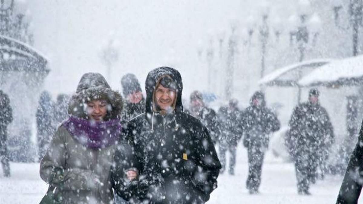 Штормовое предупреждение в Украине на 8 и 9 февраля