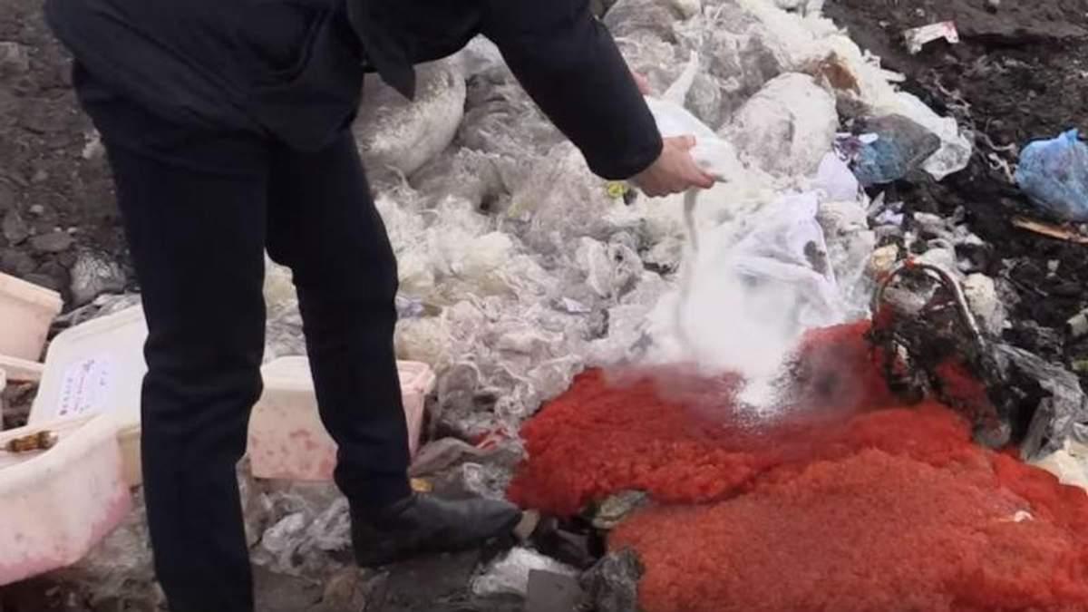 """В """"ЛНР"""" уничтожили 85 килограммов красной икры"""