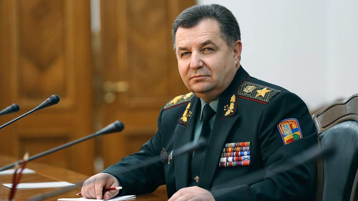 Полторак обіцяє побудувати закриті сховища на військових складах