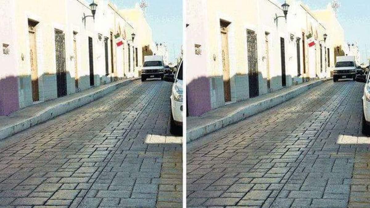 Оптическая иллюзия с фотографиями