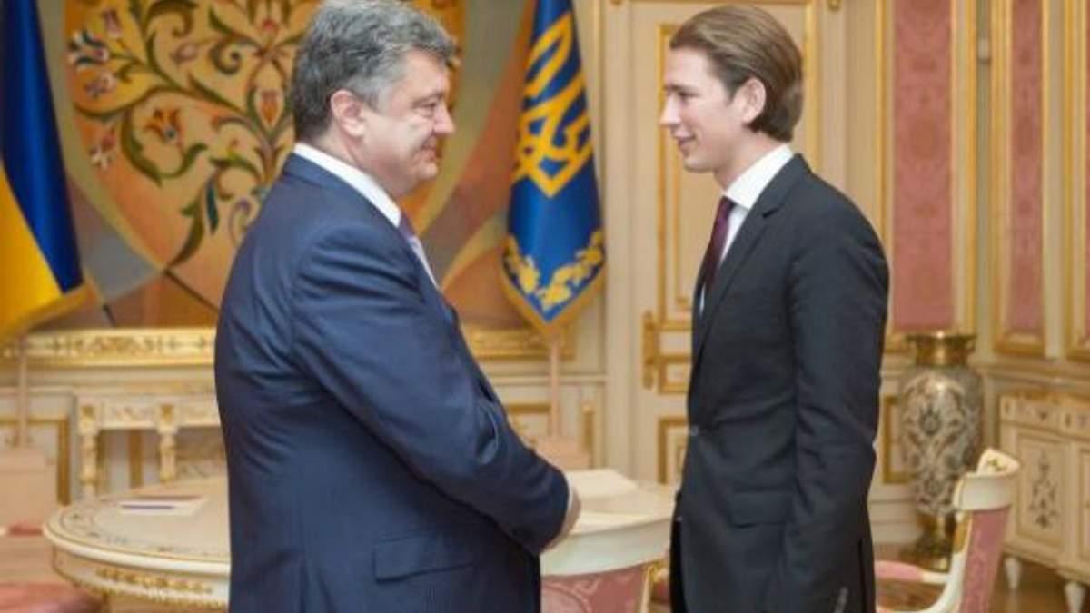 Встреча Порошенко с Курцом