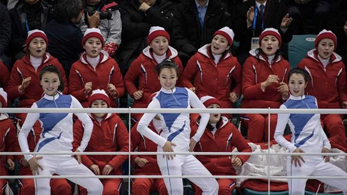Підтримка команди Північної Кореї на Олімпіаді-2018 у Пхьончхані