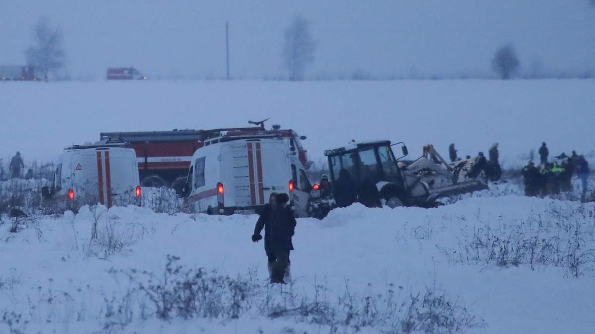 Место катастрофы самолета Ан-148