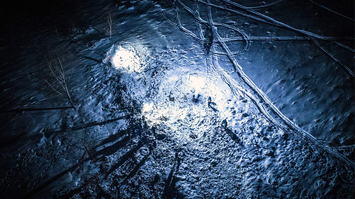 На місці падіння Ан-148 у Підмосков'ї