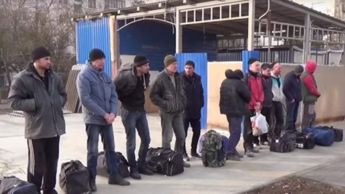 Депортированные из Крыма украинцы
