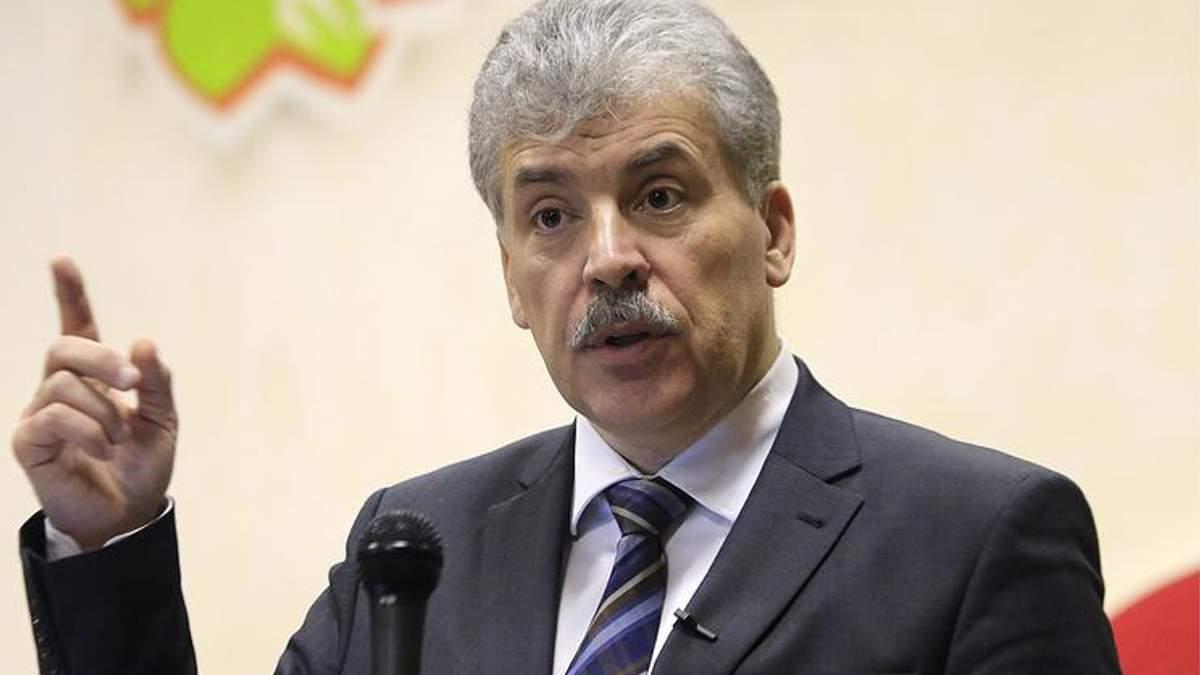 """Грудінін заявив, що визнає """"Л/ДНР"""" після перемоги на виборах"""