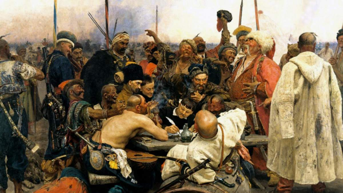 """Козаки пишуть лист турецькому султану"""