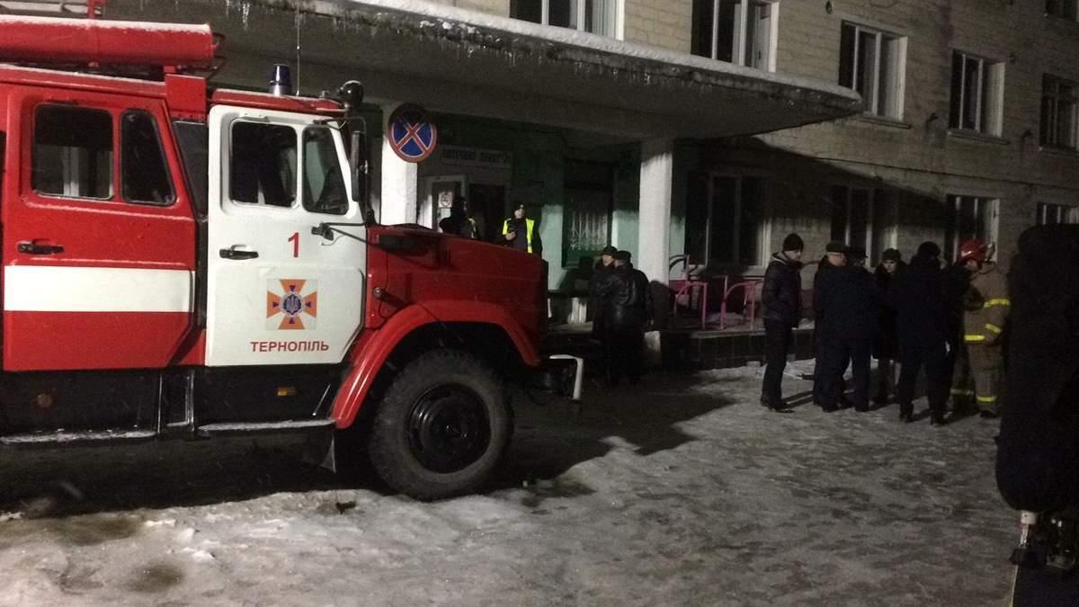 Пожар в больнице Тернополя