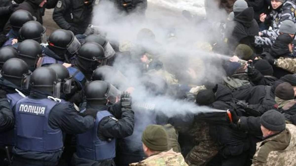 Сутички під Солом'янським судом у Києві