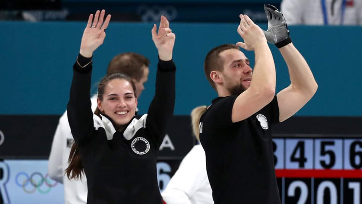 Александр Крушельницкий и Анастасия Брызгалова на Олимпиаде-2018