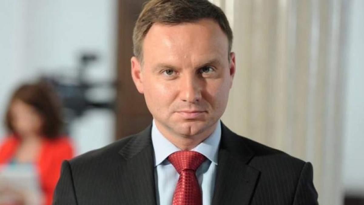 Автомобиль президента Польши Дуды попал в ДТП