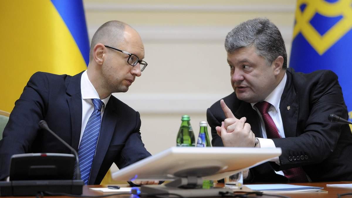 Партії Порошенка і Яценюка знову домовляються про об'єднання: озвучені результати