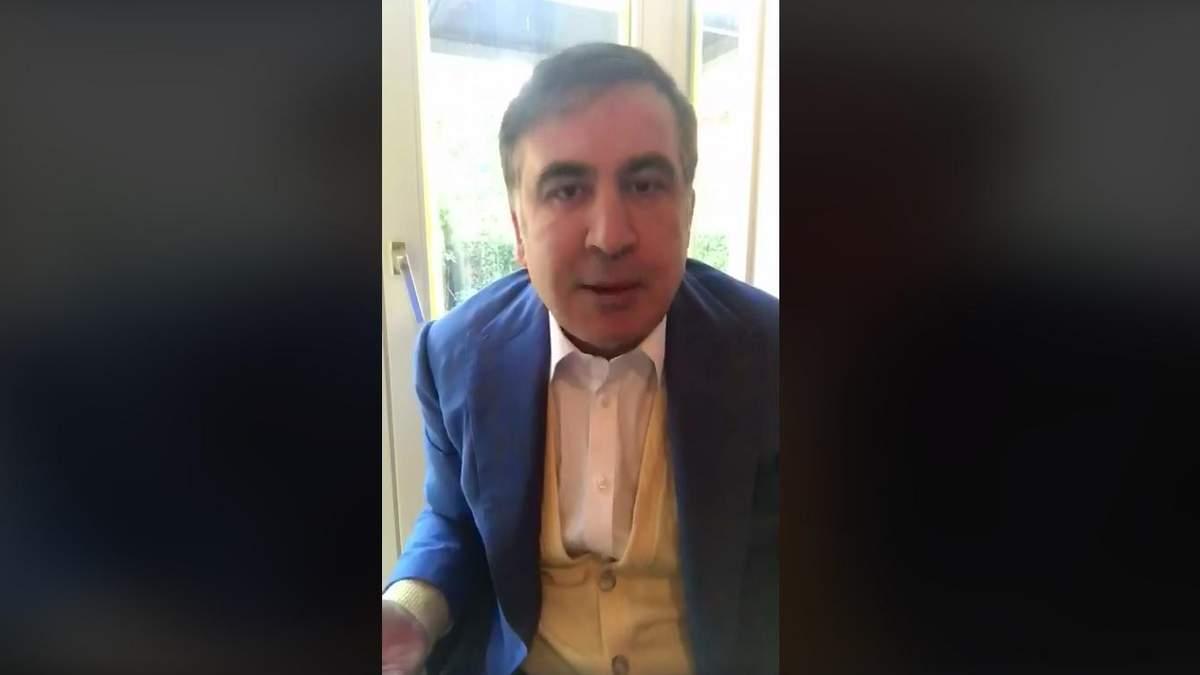 У него коррупция живет в кабинете, она у него в голове, – Саакашвили о выступлении Порошенко
