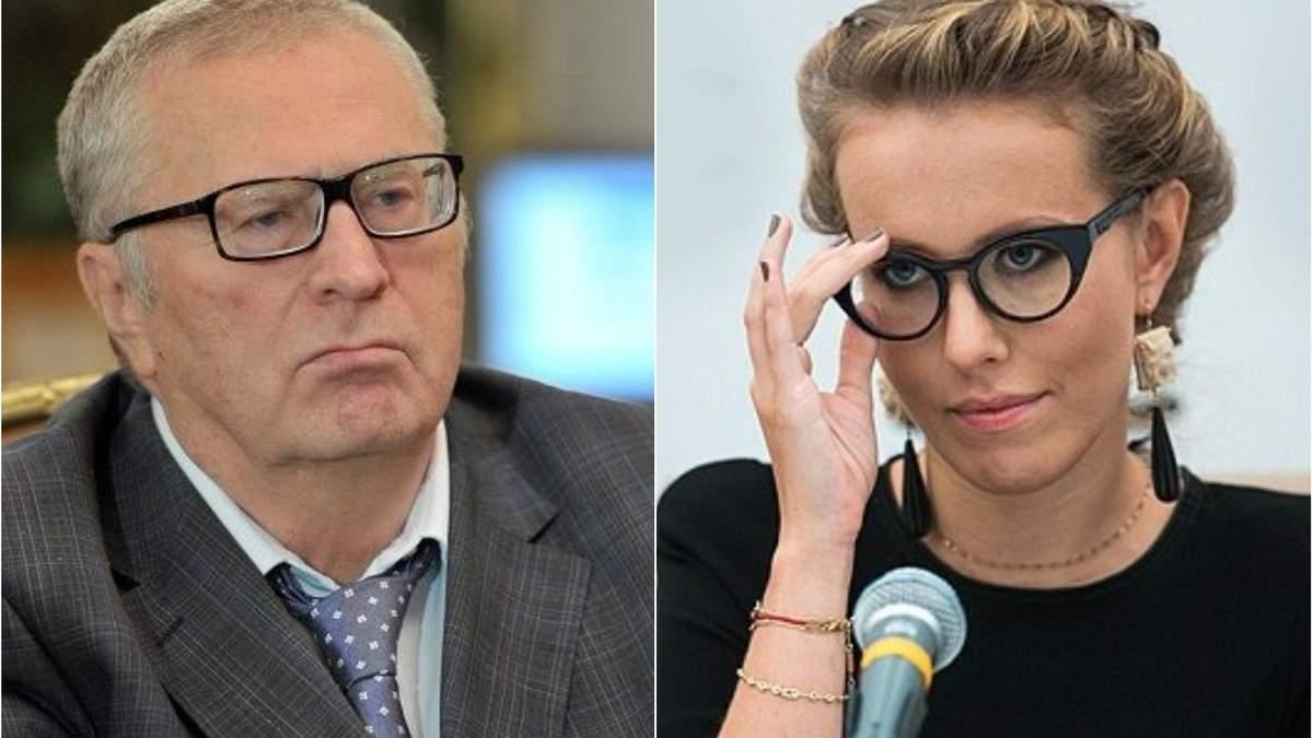 Постаревший клоун и хам: Собчак прокомментировала громкий скандал с Жириновским