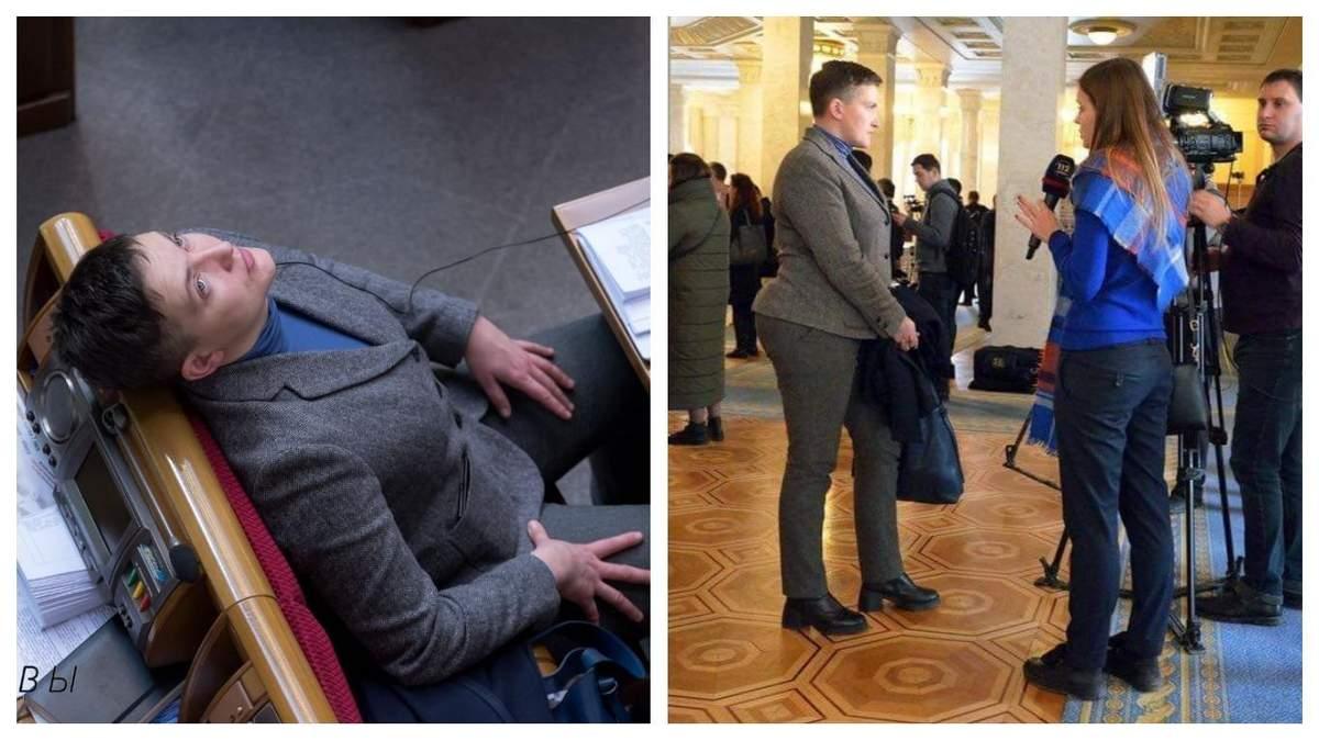 Соцмережу здивували пікантні форми Савченко та її дивний стан у ВР