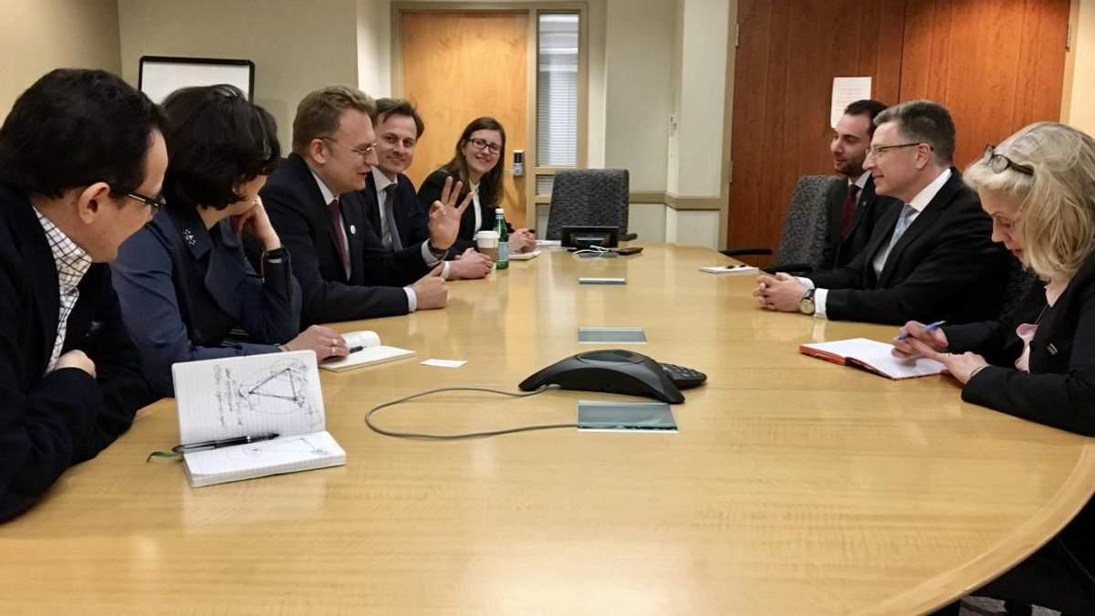"""Керівництво """"Самопомочі"""" зустрілось у Вашингтоні зі спецпредставником Держдепу Куртом Волкером"""