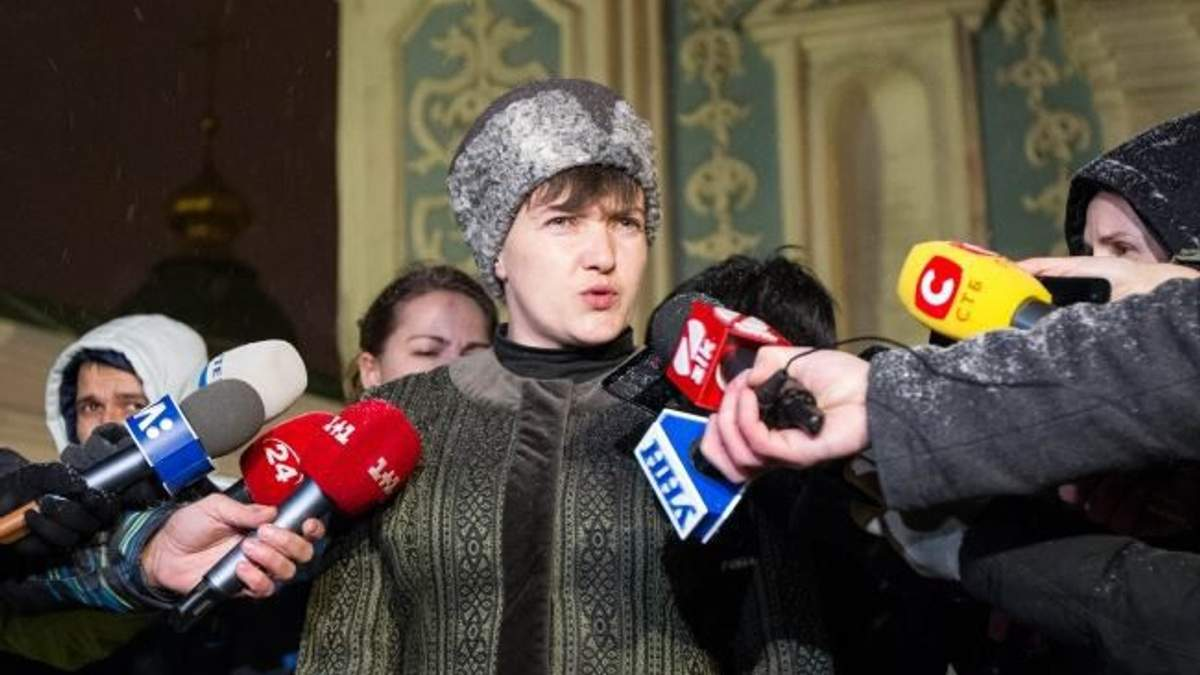 "На ""зникнення"" Савченко з України створили карикатуру"