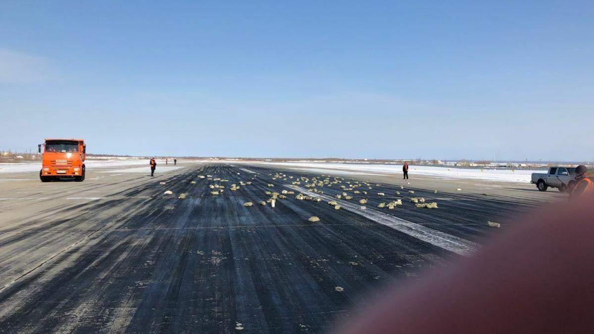 В России из самолета выпало почти 9 тонн золота и платины: есть фото