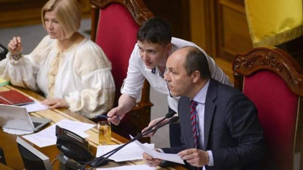 Савченко извинилась перед Парубием за свои слова про снайперов
