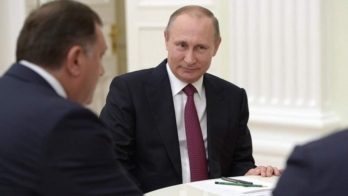 Путин поддерживает милитаризацию в Боснии и Герцеговине