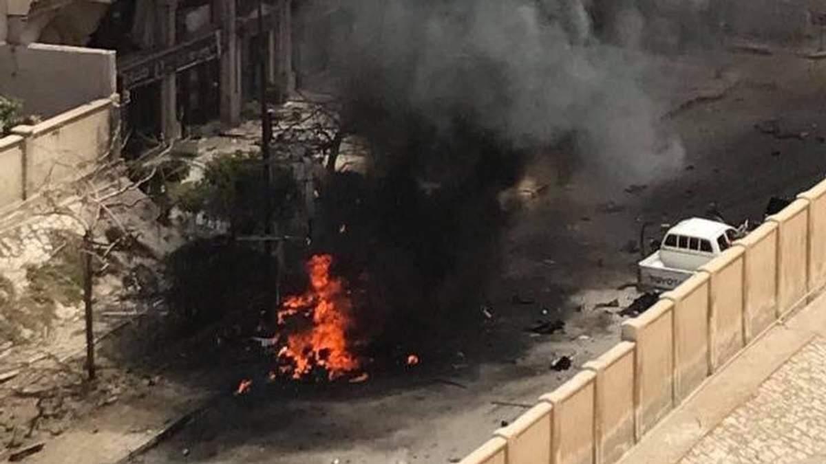 Наслідки вибуху поблизу в Александрії