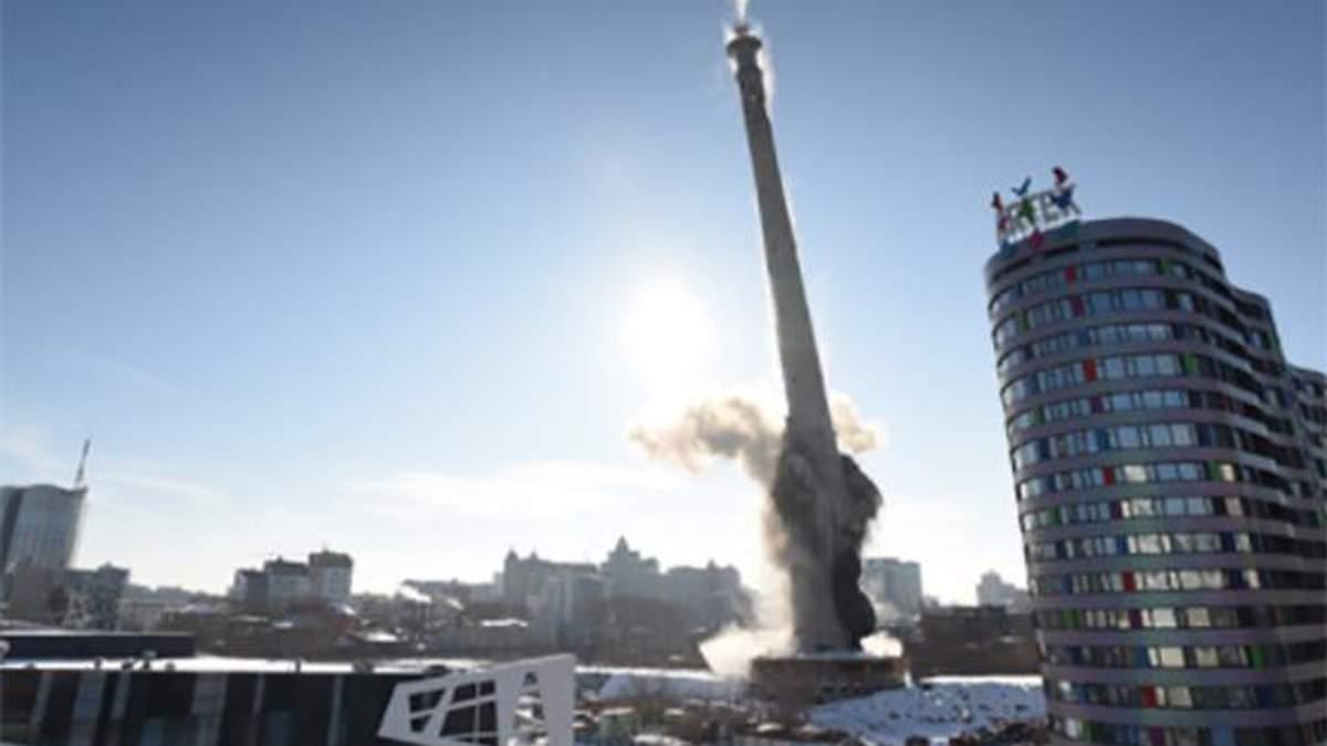 У Росії підірвали 220-метрову телевежу