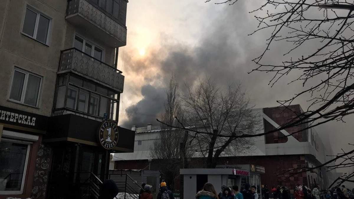 У Росії четверо дітей загинули під час пожежі в торговому комплексі: з'явилися моторошні кадри