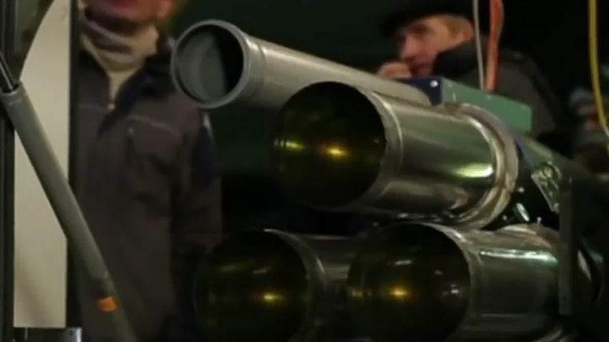 Кадр із сюжету про російські військові лазери