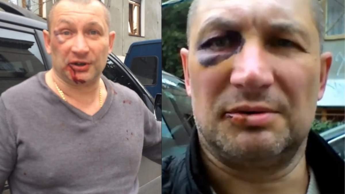 В Крыму сильно избили украинца за сине-желтые цвета на авто: видео