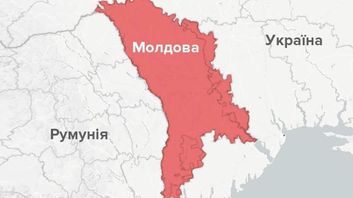 Молдова на мапі
