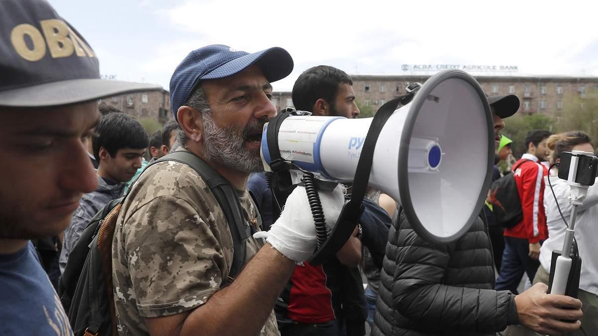 Пашинян объявил о начале кампании тотальной гражданского неповиновения в Армении
