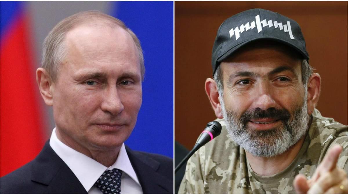 Путин поздравил Пашиняна с избранием его премьером Армении