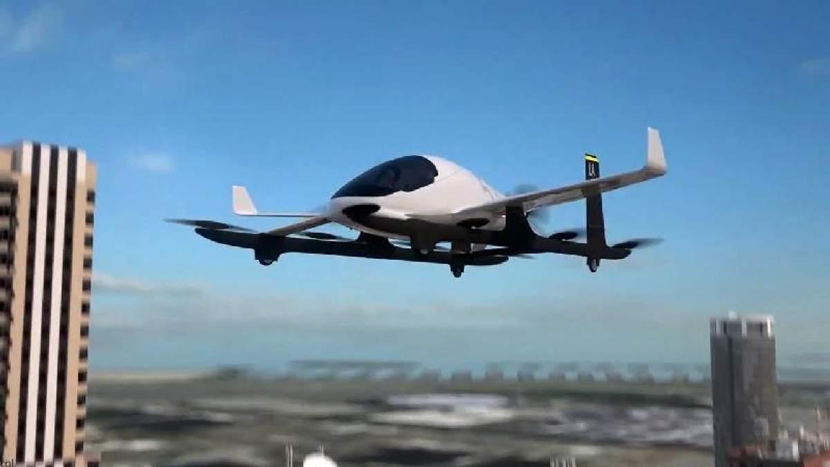 Uber показав прототип першого літаючого таксі